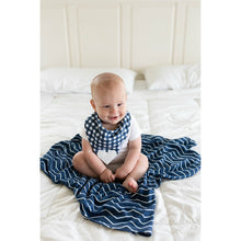 Load image into Gallery viewer, Swaddle Buds- Breathable Stretchy Wraps-Navy Zig Zag