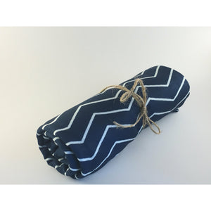 Swaddle Buds- Breathable Stretchy Wraps-Navy Zig Zag