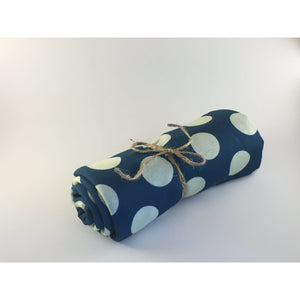 Swaddle Buds- Breathable Stretchy Wraps-Teal Dots