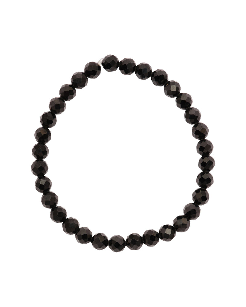 Black Spinel Faceted