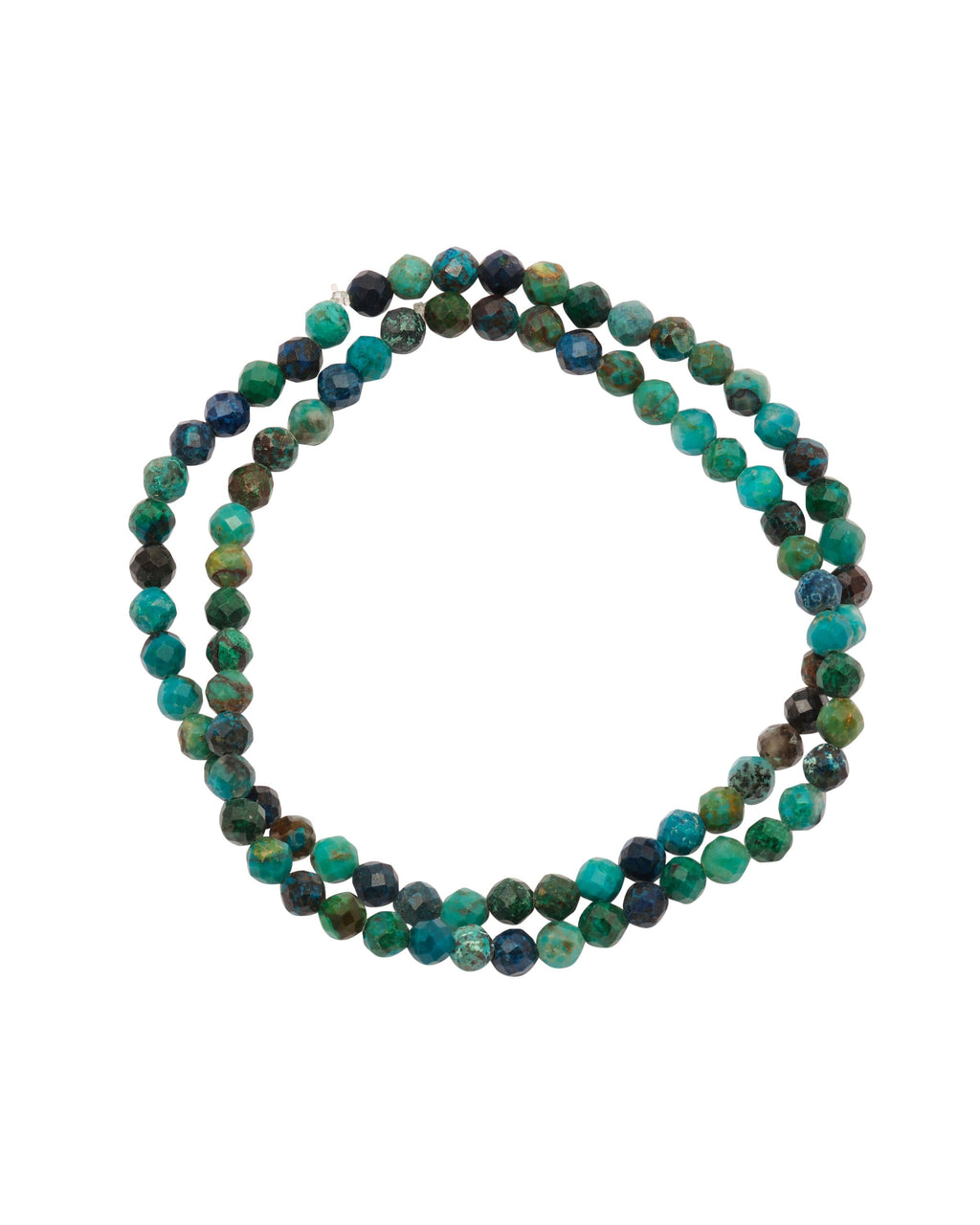Chrysocolla Faceted Stacked