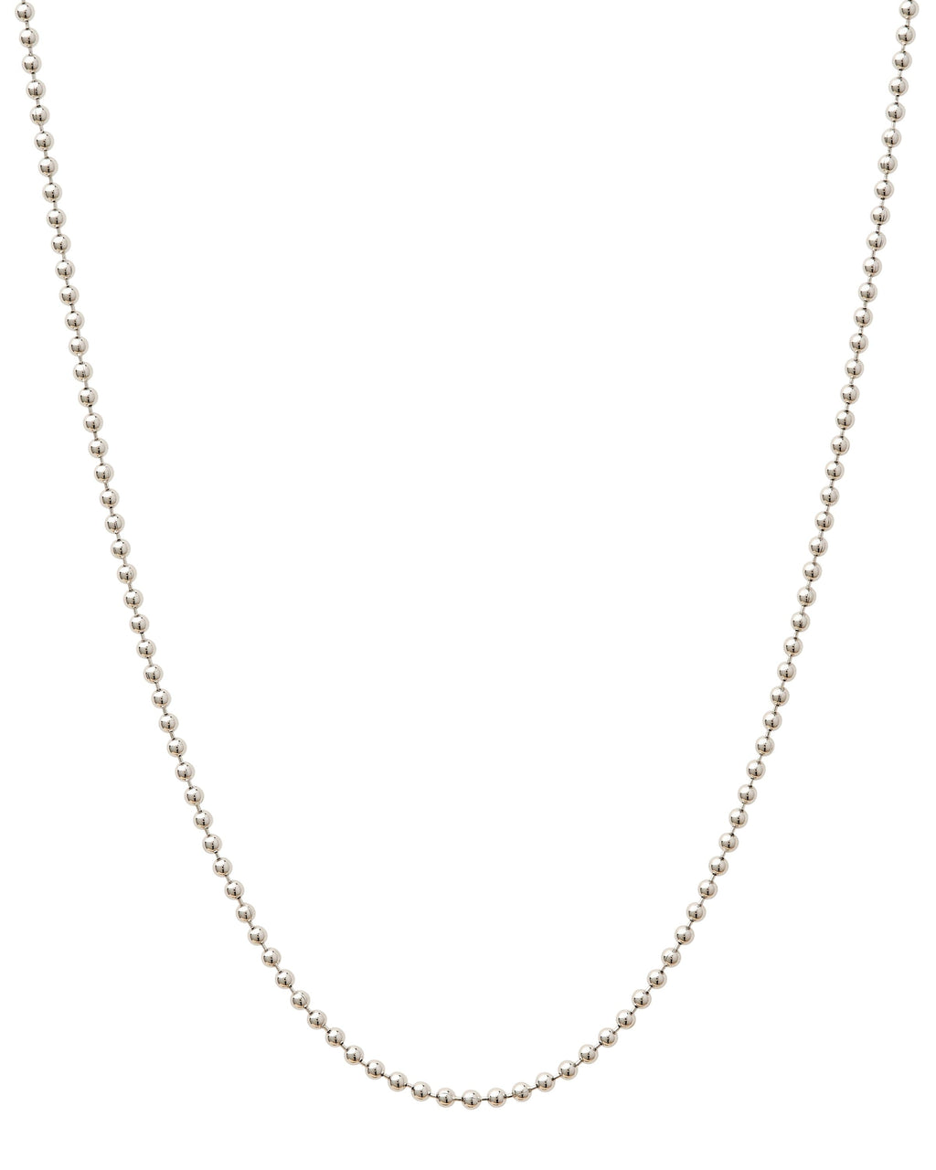 Sterling Silver Bead Chain