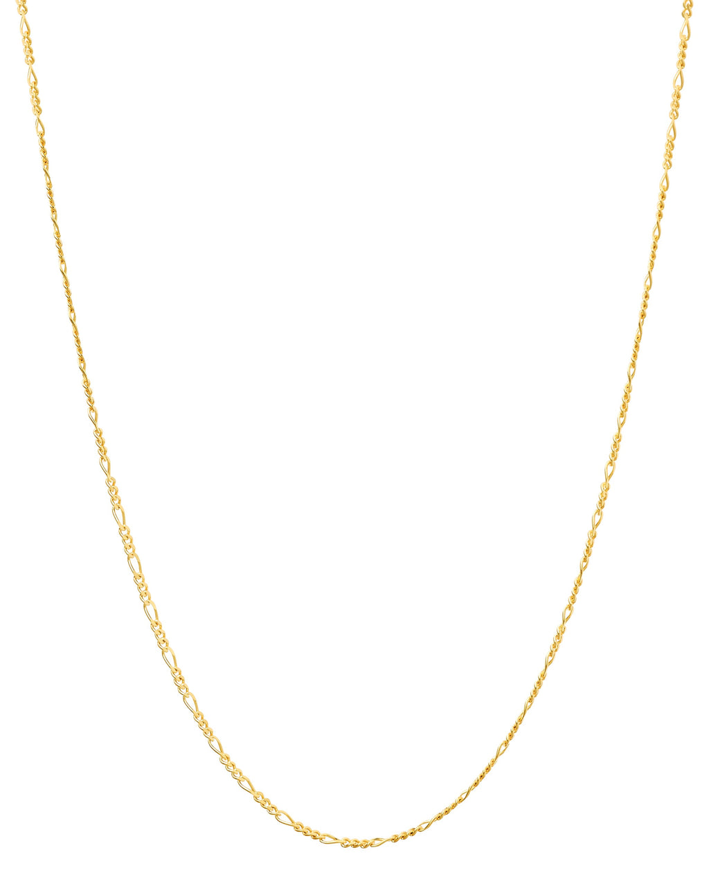14k Figaro Yellow Gold Chain
