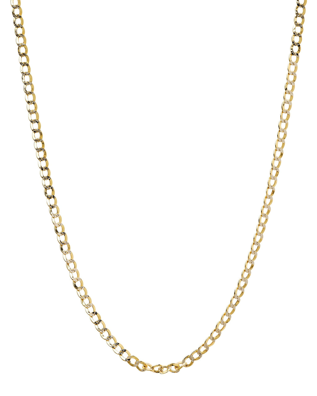 "20"" 14k Curb Hollow Yellow Gold Chain"