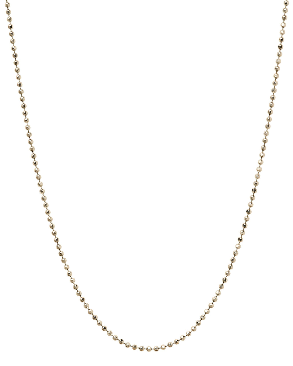 14k White Gold Bead Chain