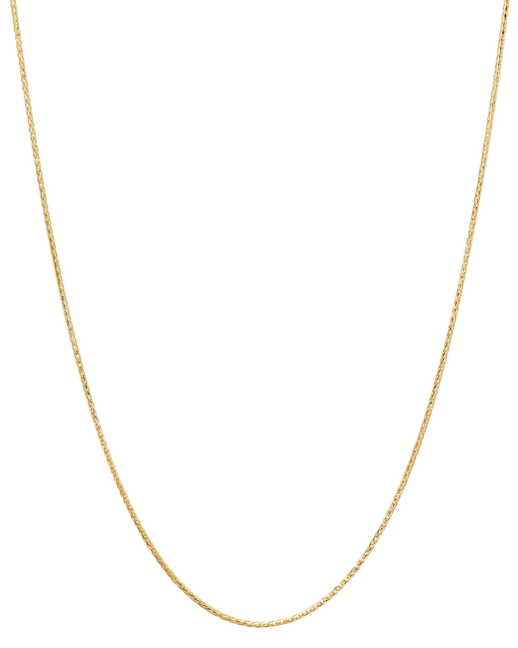 14k Spiga Wheat Yellow Gold Chain