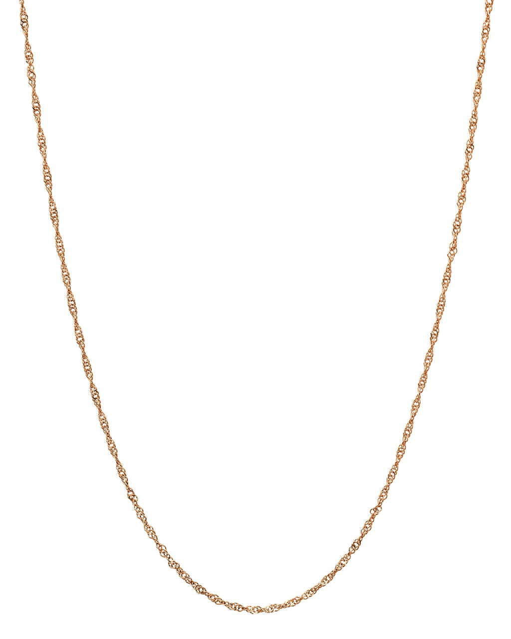 14k Rose Gold Singapore Chain
