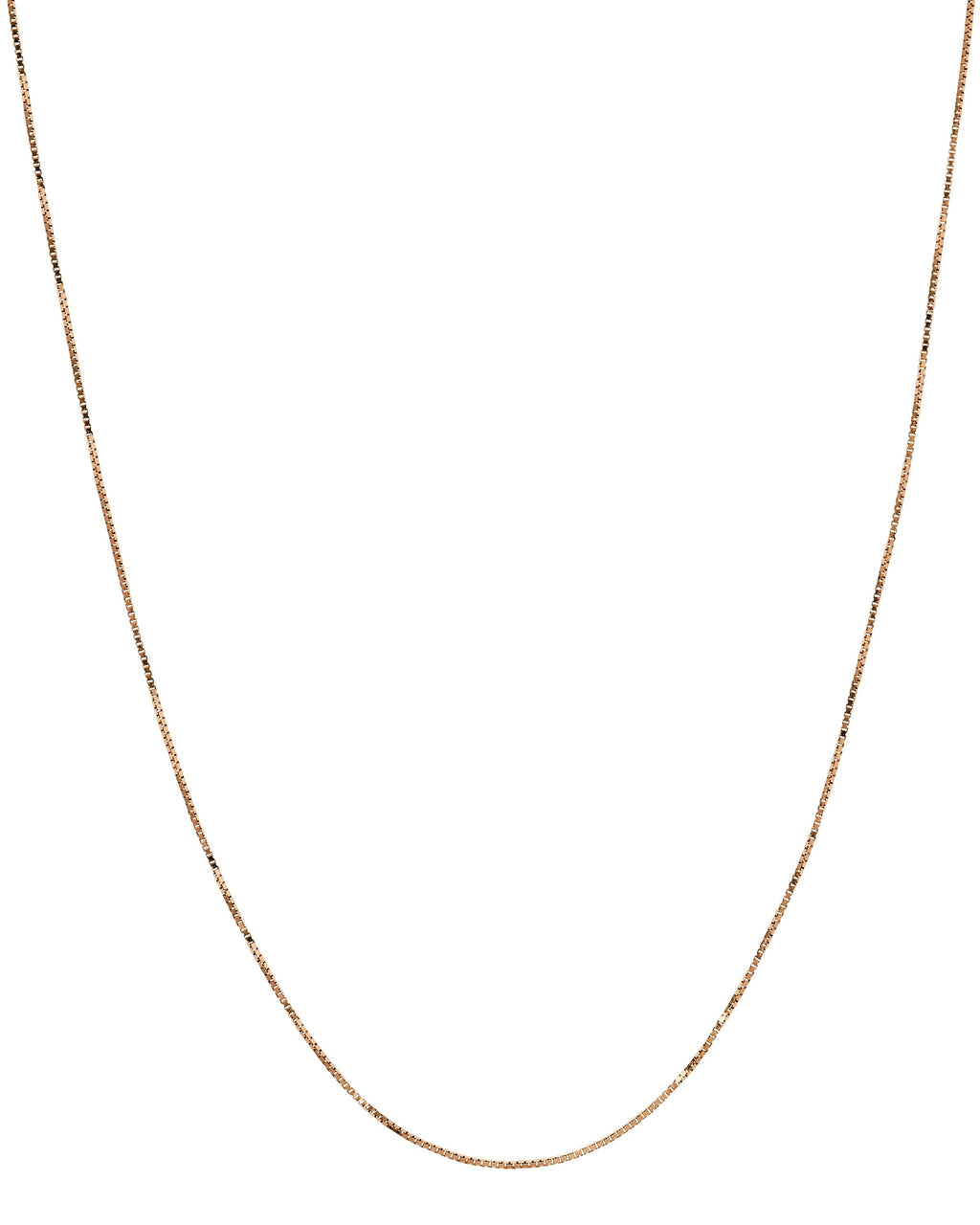 14k Rose Gold Box Chain
