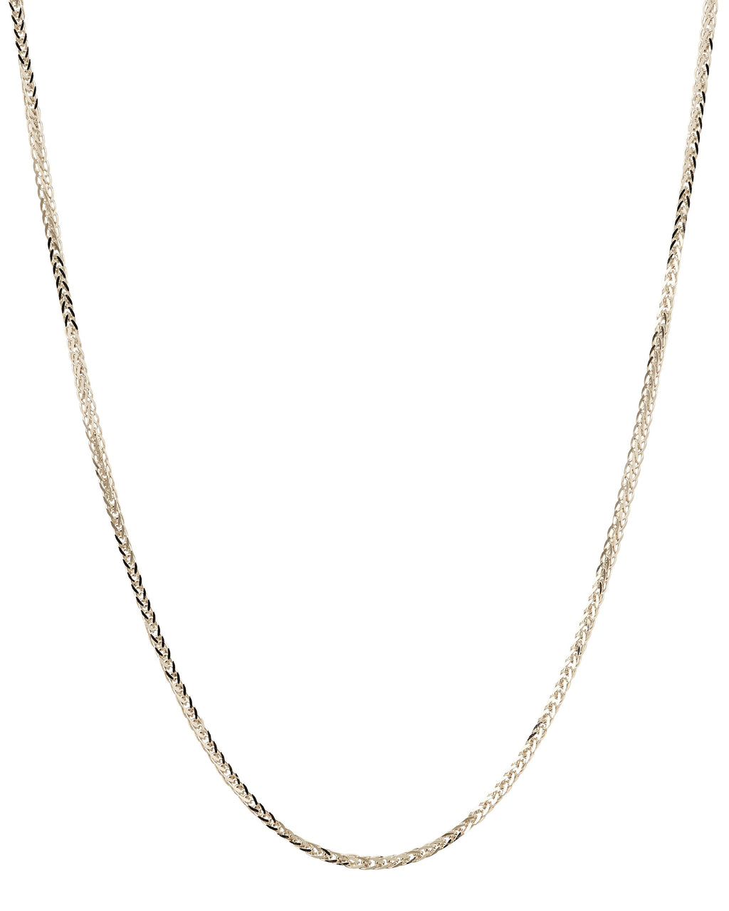 14k Spiga Wheat White Gold Chain