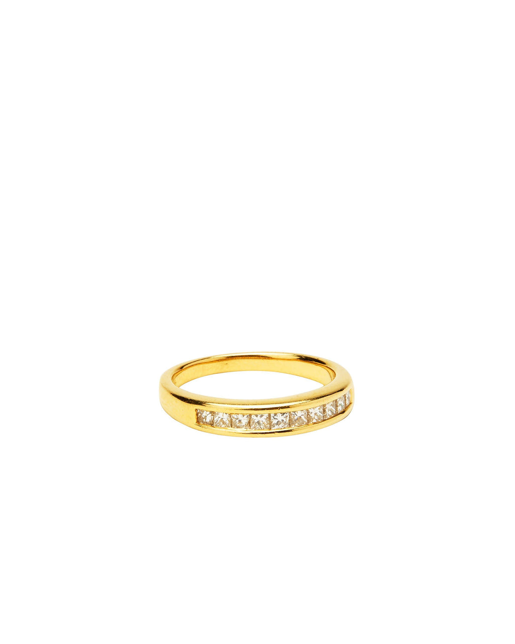 Diamond Band on 14k Yellow Gold