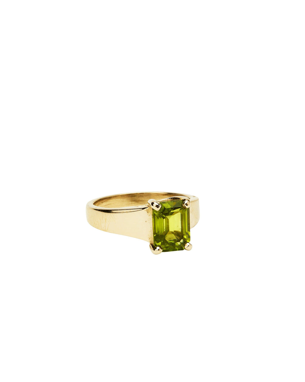 Peridot on 14k White Gold
