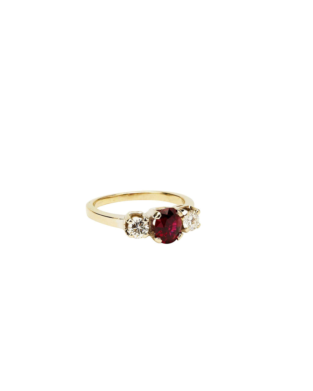 Ruby and Diamond on 14k White Gold