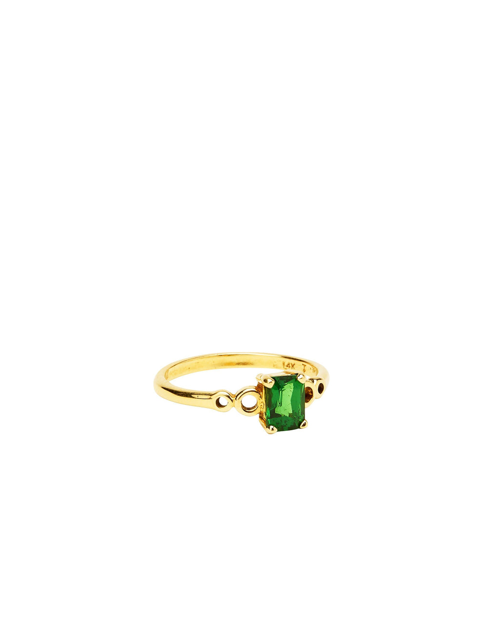 Tsavorite Garnet on 14k Yellow Gold
