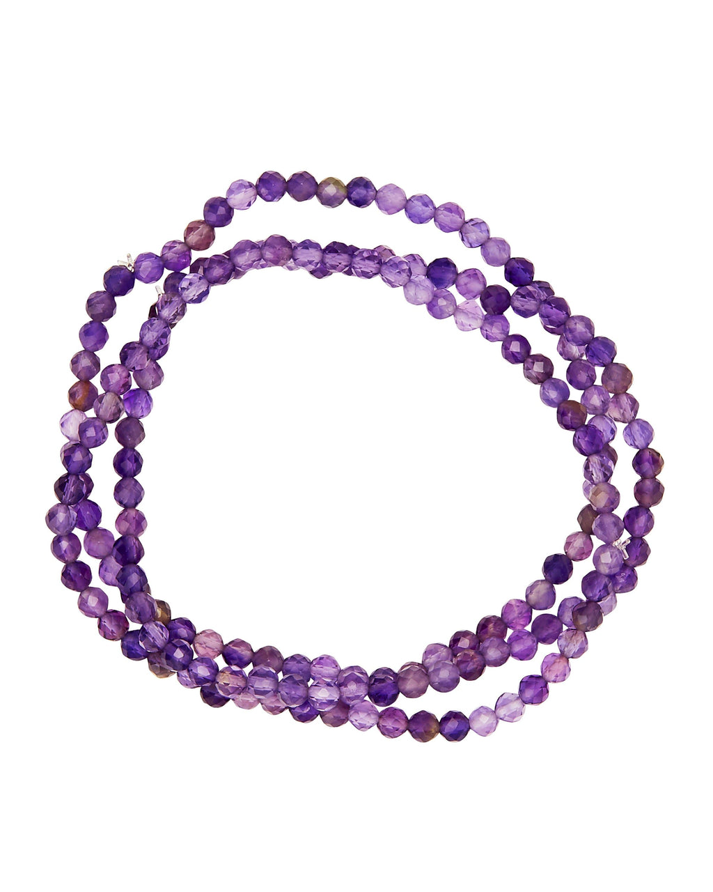 Amethyst Faceted Stack