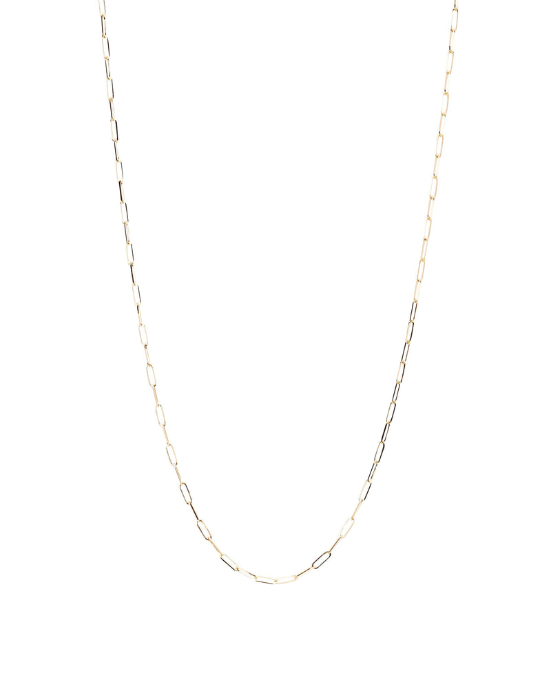 14k Paper Clip Yellow Gold Chain
