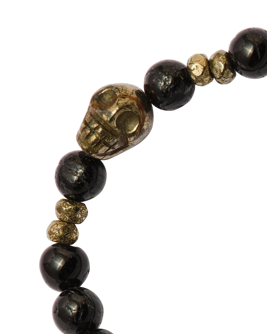 Black Tourmaline with Pyrite Skull