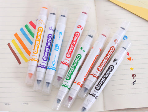 Marker Stamps - 8pcs