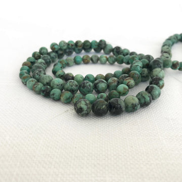 African Turquoise Round Bead Strand (AFT-G002)