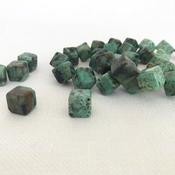 African Turquoise Cube Bead (AFT_005)
