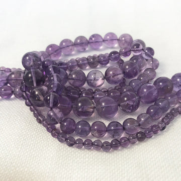 Amethyst Round Bead Strand (AME-G021)