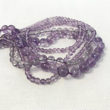 Amethyst Round Bead Strand (AME-G024)