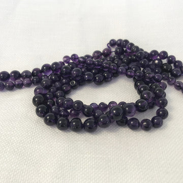 Amethyst Round Bead Strand (AME-G017)