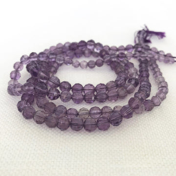Amethyst Faceted Round Graduated Bead Strand (AME_026)