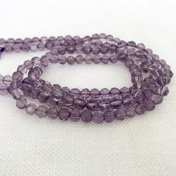 Amethyst Faceted Round Bead Strand (AME_027)