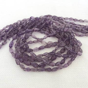 Amethyst Faceted Tear Bead Strand (AME_040)