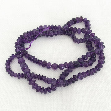 Amethyst Rondelle Bead Strand (AME_045)