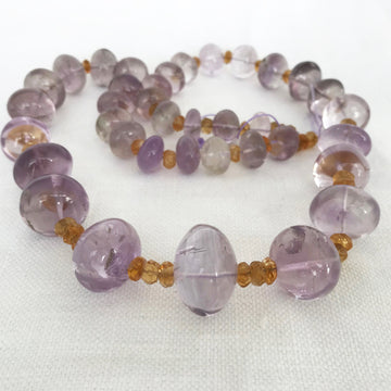 Amethyst Rondelle Graduated Bead Strand (AME_046)