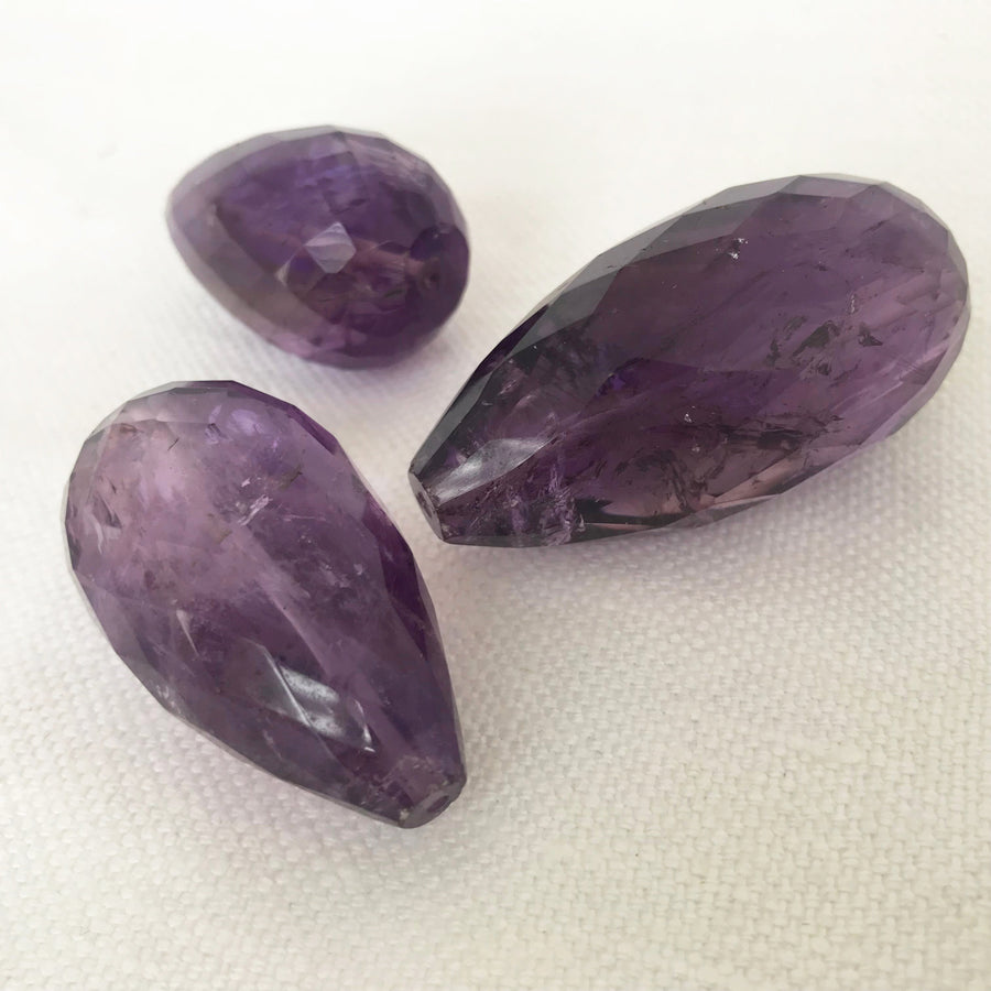 Amethyst Faceted Tear Bead (AME-G067)