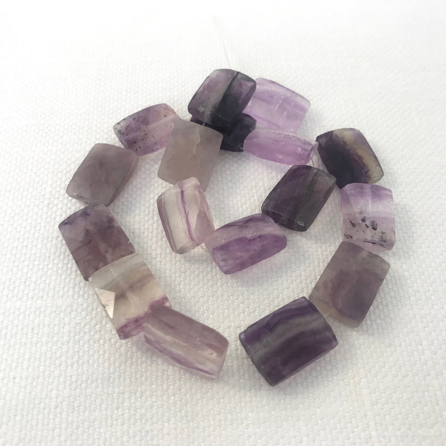 Amethyst Faceted Rectangular Bead Strand (AME_079)