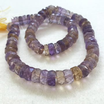 Ametrine Faceted Rondelle Bead Strand (AMT_003)