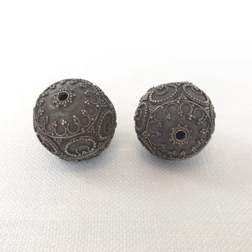 Bali/India Silver Granulated Round Bead (BAS_001)