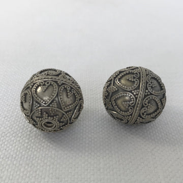 Bali/India Silver Granulated Round Bead (BAS_002)