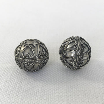 Bali/India Silver Granulated Round Bead (BAS_003)