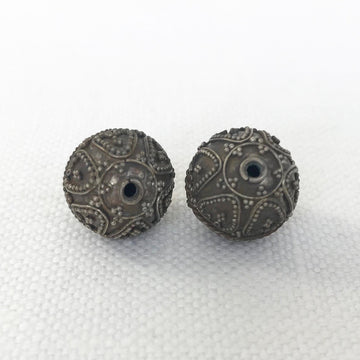 Bali/India Silver Granulated Round Bead (BAS_004)