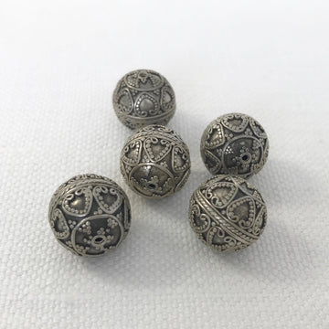 Bali/India Silver Granulated Round Bead (BAS_005)