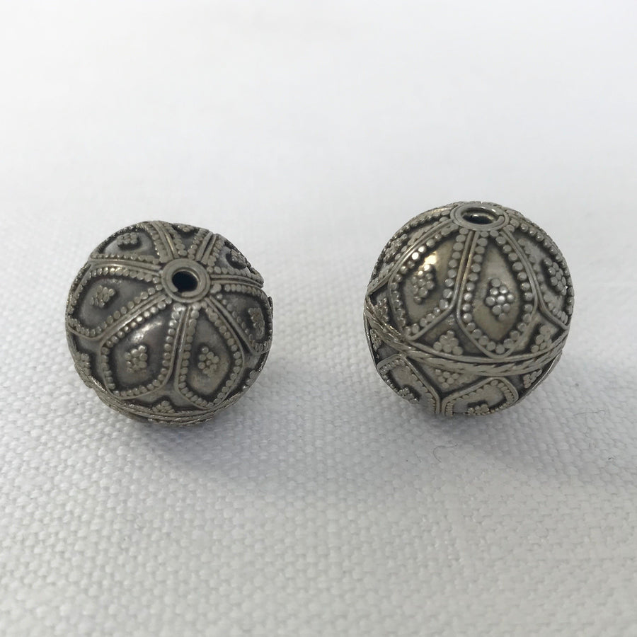Bali/India Silver Granulated Round Bead (BAS_006)