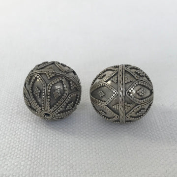 Bali/India Silver Granulated Round Bead (BAS_007)