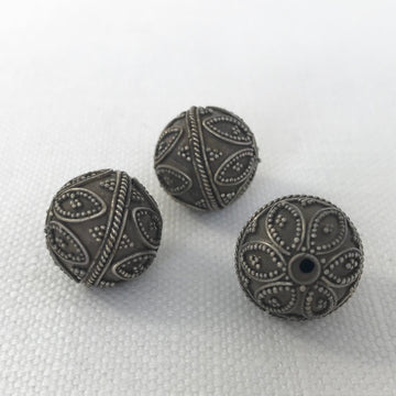 Bali/India Silver Granulated Round Bead (BAS_008)