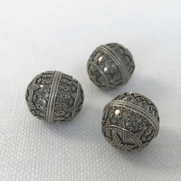 Bali/India Silver Granulated Round Bead (BAS_009)