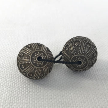 Bali/India Silver Granulated Round Bead (BAS_010)