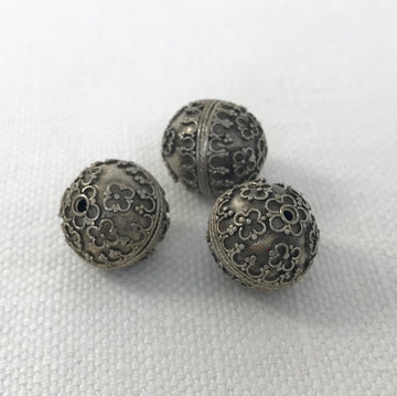 Bali/India Silver Granulated Round Bead (BAS_013)