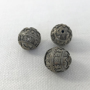Bali/India Silver Granulated Round Bead (BAS_014)