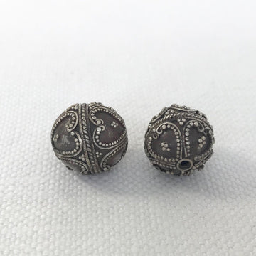 Bali/India Silver Granulated Round Bead (BAS_019)