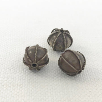 Bali/India Silver Granulated Round Bead (BAS_022)