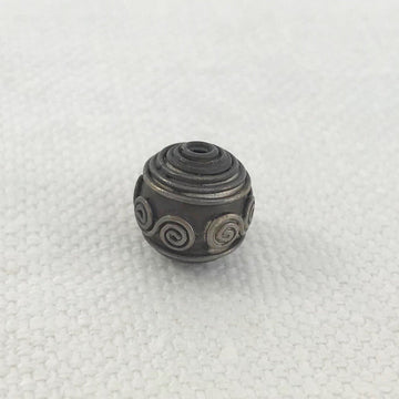 Bali/India Silver Granulated Round Bead (BAS_024)