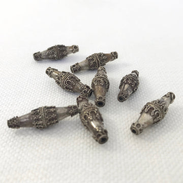 Bali/India Silver Granulated Bicone Bead (BAS_030)